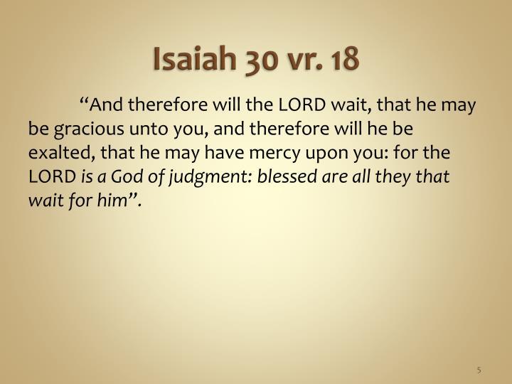 Isaiah 30