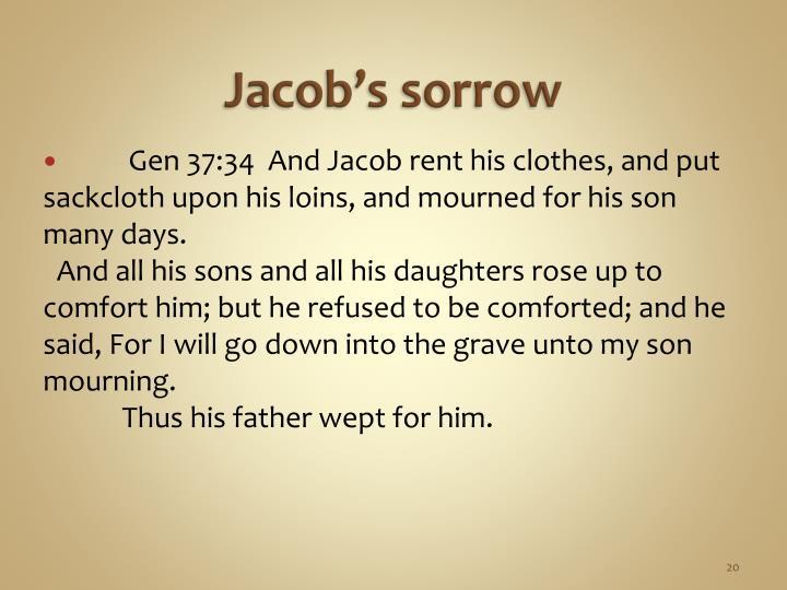 Jacob's sorrow