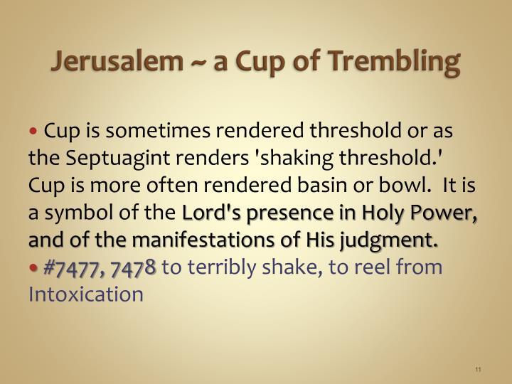 Jerusalem ~ a Cup of Trembling