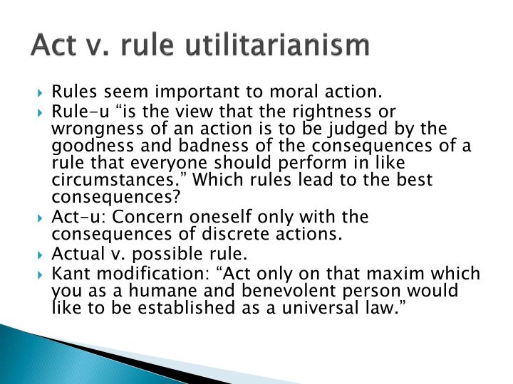 Act v. rule utilitarianism