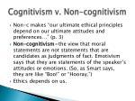 cognitivism v non cognitivism