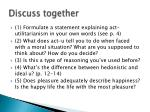 discuss together