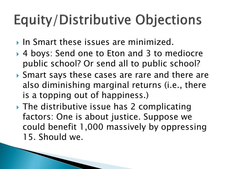 Equity/Distributive Objections