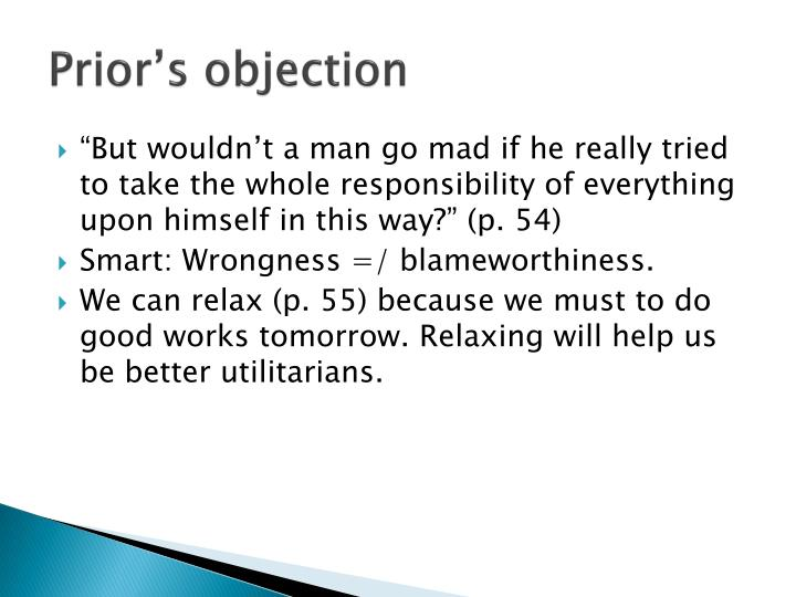 Prior's objection