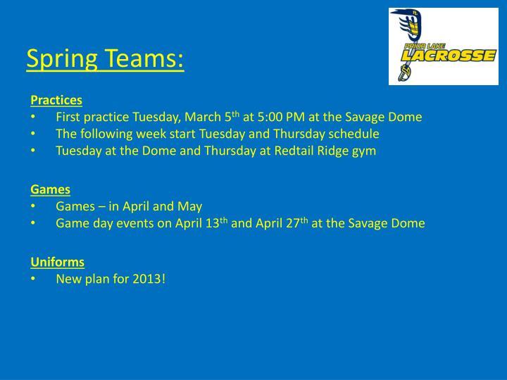 Spring Teams: