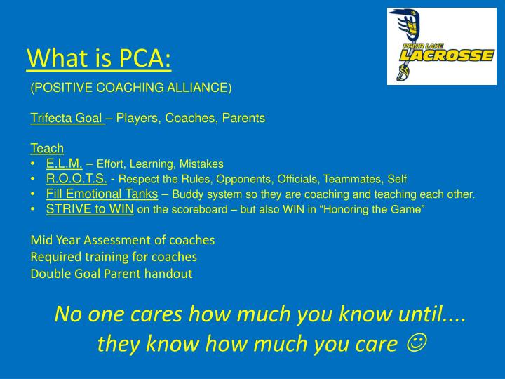 What is PCA: