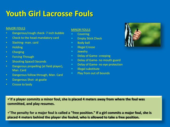 Youth Girl Lacrosse Fouls