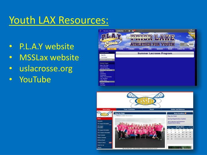 Youth LAX Resources: