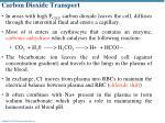 carbon dioxide transport1