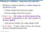pulmonary ventilation inspiration and expiration