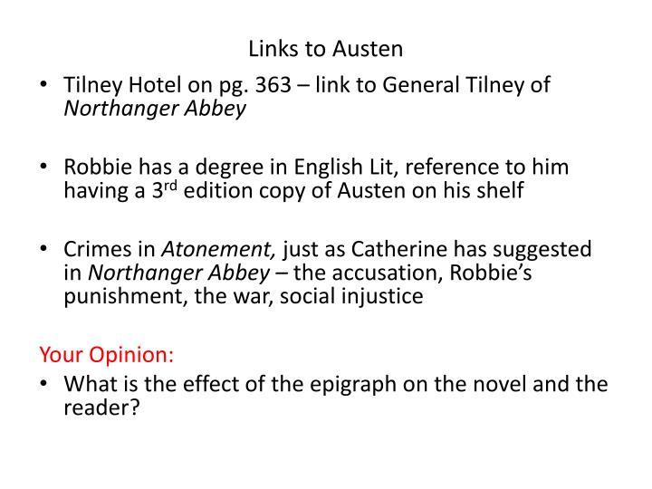 Links to Austen