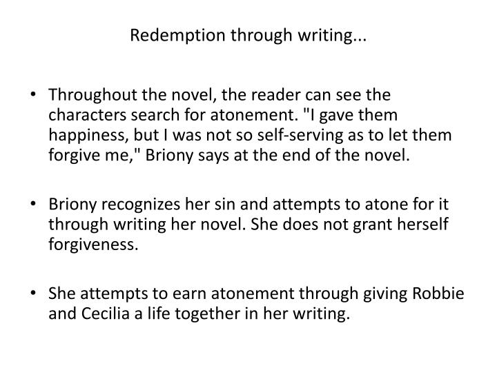 Redemption through writing...