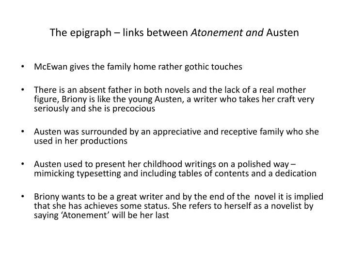 The epigraph – links between