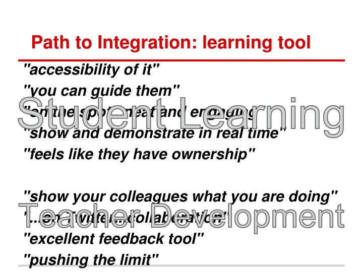 Path to Integration: learning tool