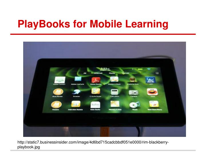 PlayBooks for Mobile Learning