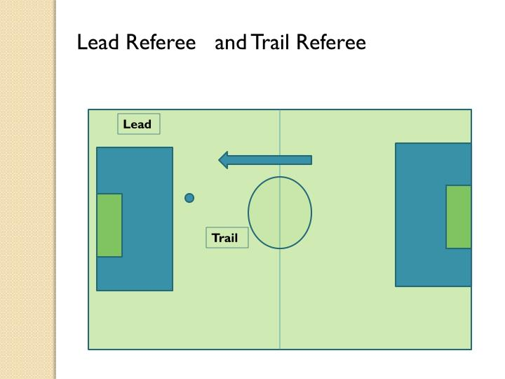 Lead Referee   and Trail Referee