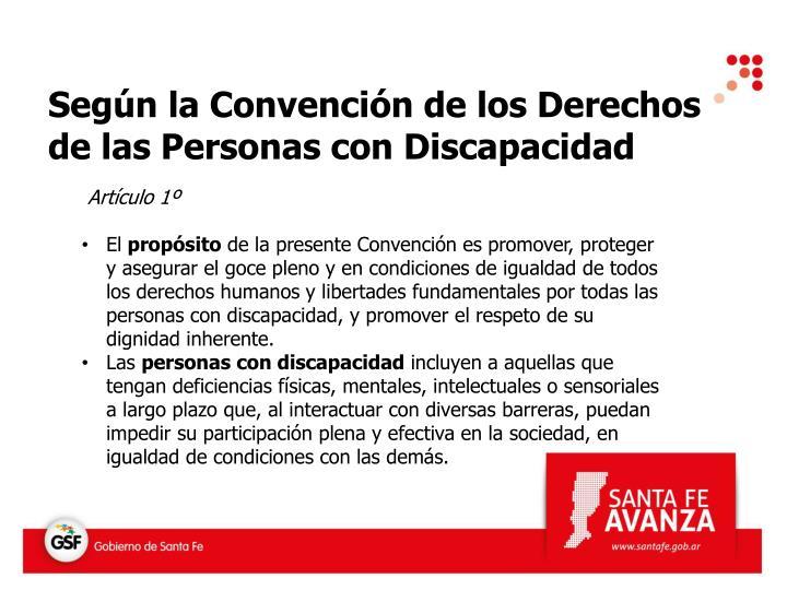 Según la Convención de los Derechos de las Personas con Discapacidad