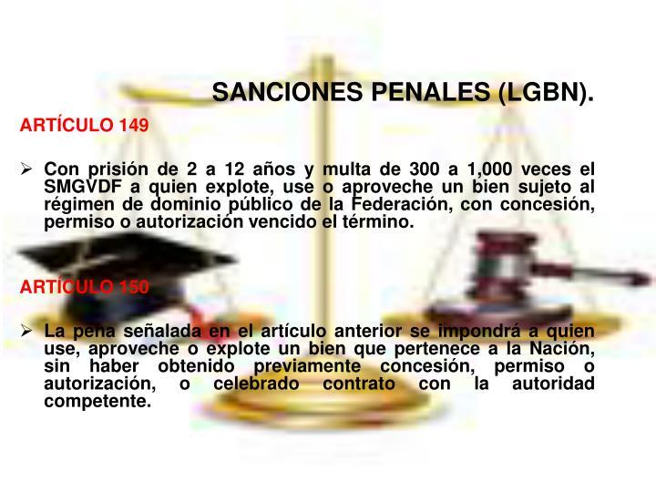 SANCIONES PENALES (LGBN)