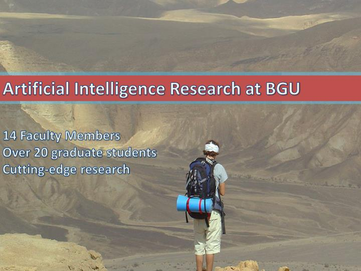 Artificial Intelligence Research at BGU