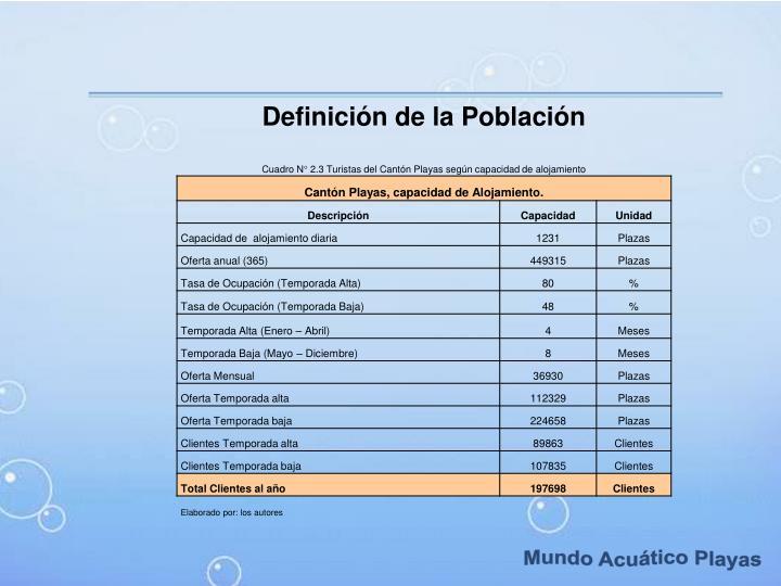 Definición de la Población