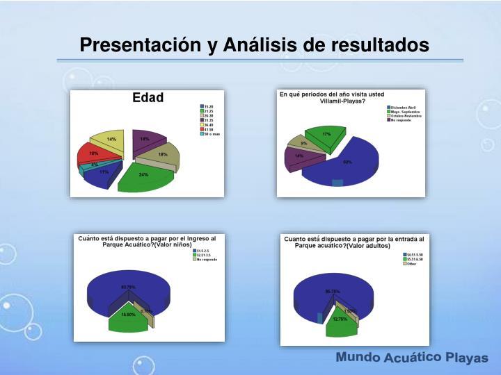 Presentación y Análisis de resultados