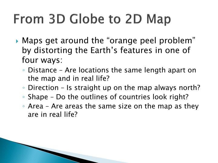 From 3D Globe to 2D Map