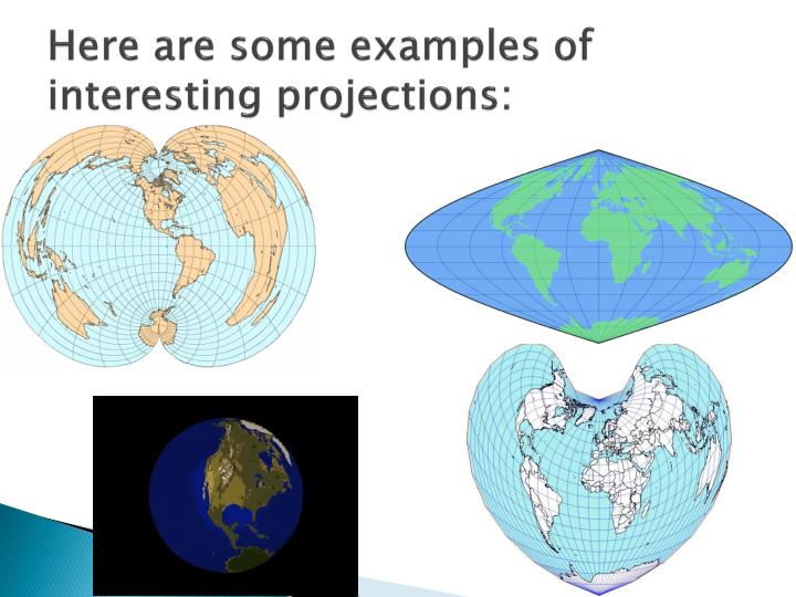 Here are some examples of interesting projections: