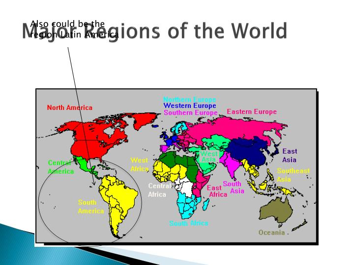 Major Regions of the World