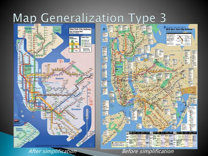 Map Generalization Type 3