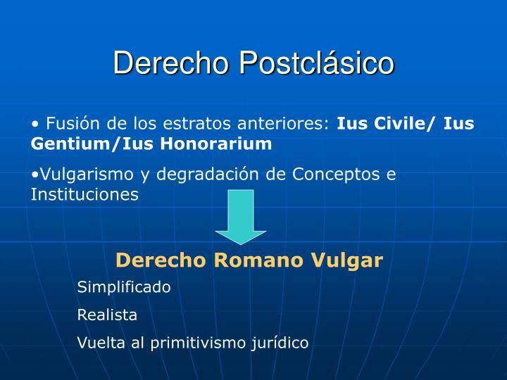 Derecho Postclásico