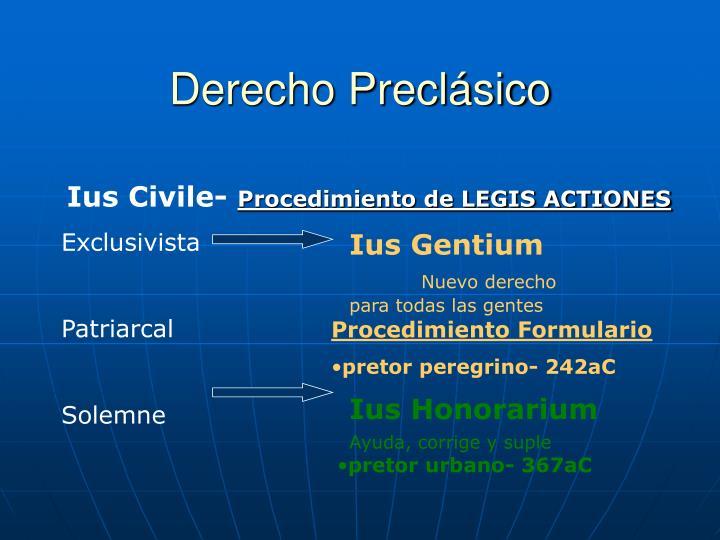 Derecho Preclásico