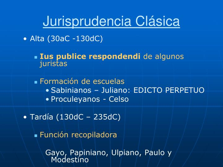 Jurisprudencia Clásica