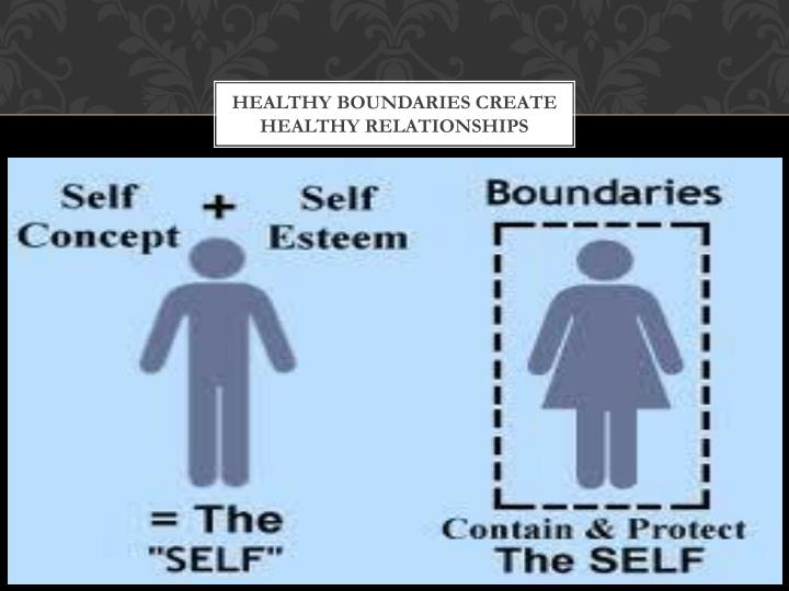 Healthy boundaries create healthy relationships
