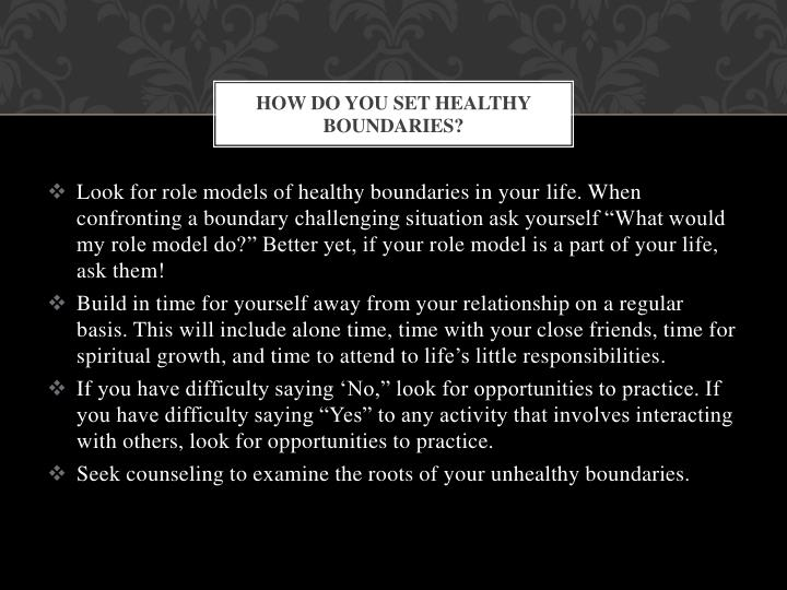 How Do You Set Healthy Boundaries?