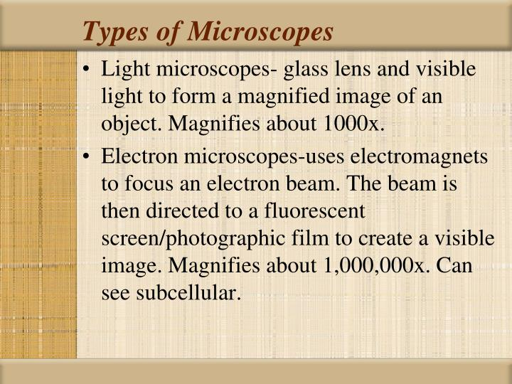 Types of Microscopes