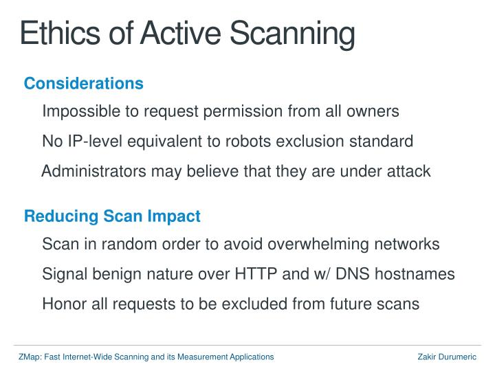 Ethics of Active Scanning