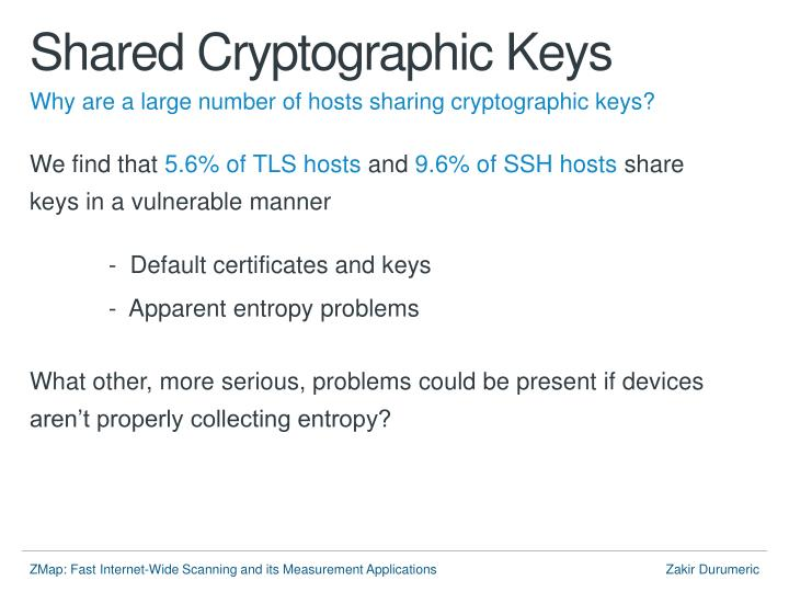 Shared Cryptographic Keys