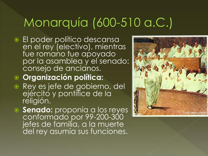 Monarquía (600-510 a.C.)