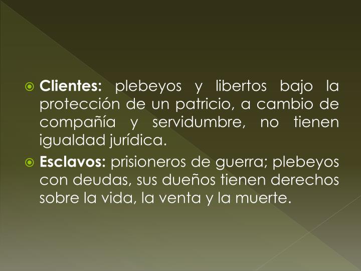 Clientes: