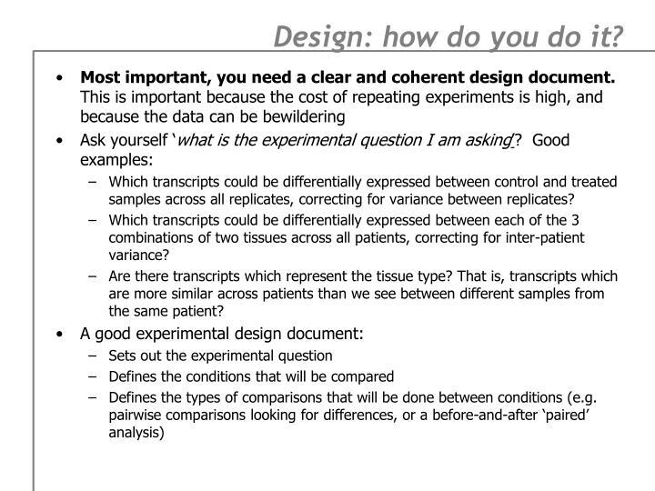 Design: how