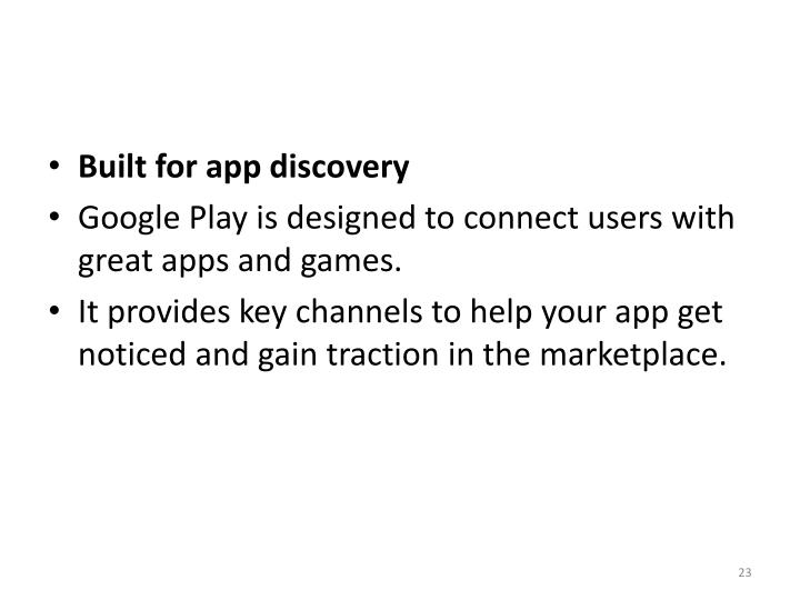 Built for app discovery