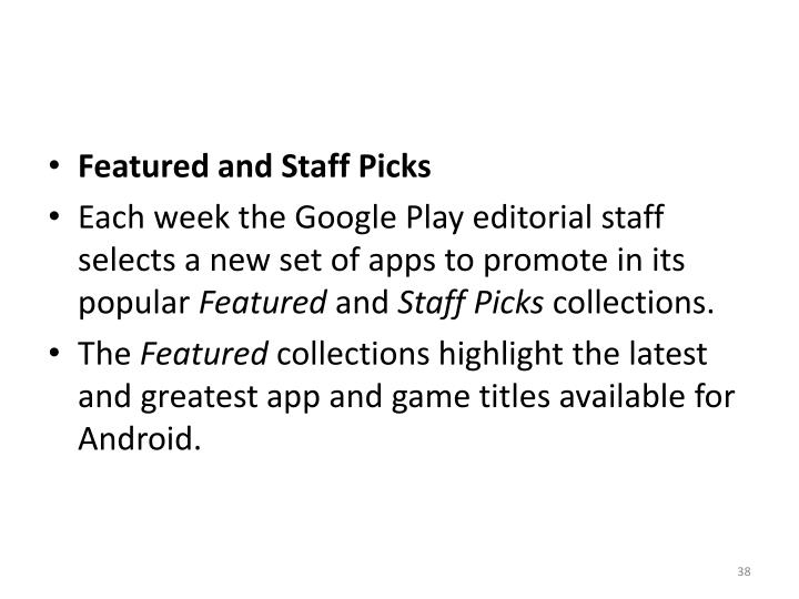 Featured and Staff Picks