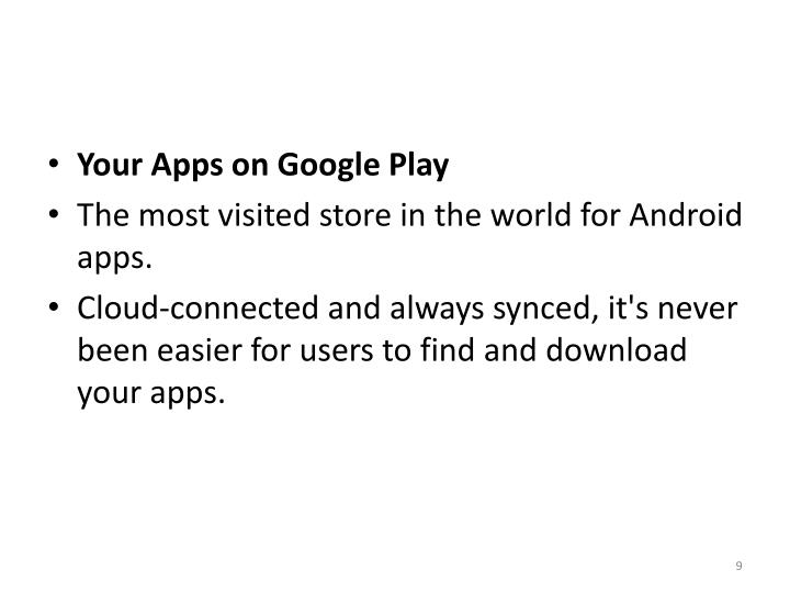 Your Apps on Google Play