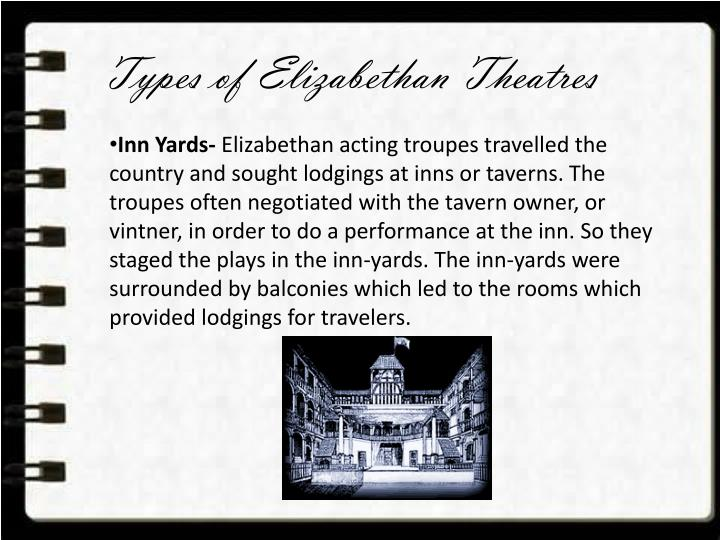 Types of Elizabethan Theatres