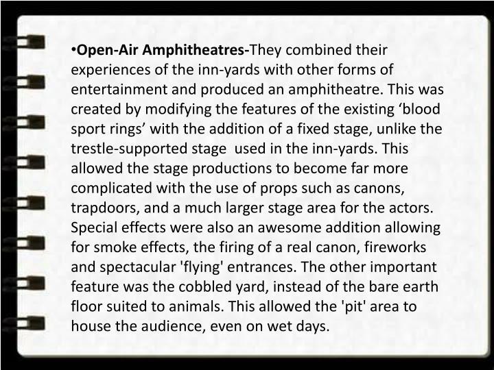 Open-Air Amphitheatres-