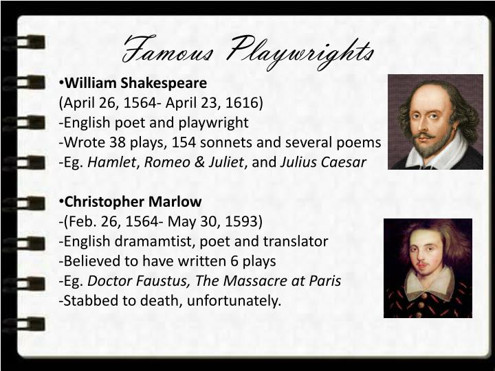 Famous Playwrights