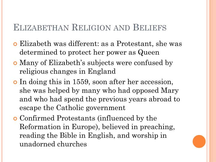 Elizabethan religion and beliefs