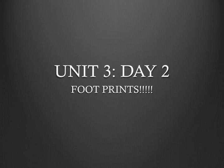 UNIT 3: DAY 2