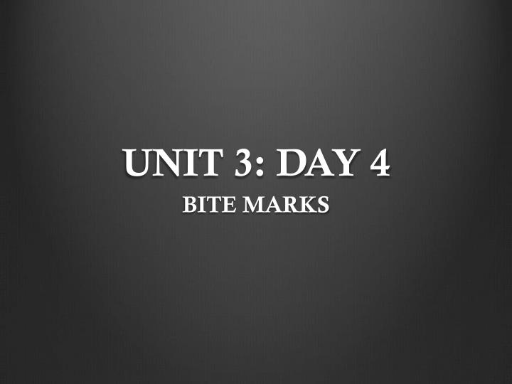 UNIT 3: DAY 4