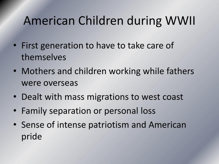 American children during wwii